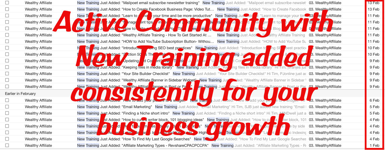 wealthy-affiliate-new-training-notifications